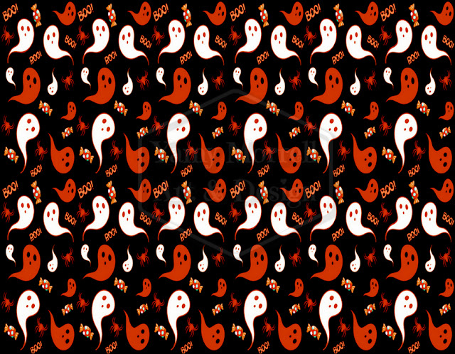 Halloween-black-ghost-pattern-design-by-yamy-morrell
