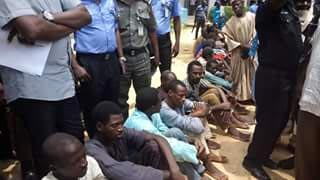 Photos: Kidnappers paraded in Kano State