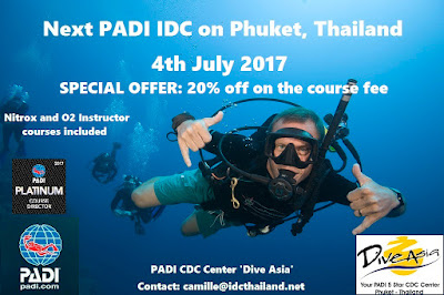 Next PADI IDC on Phuket, Thailand starts 4th July 2017