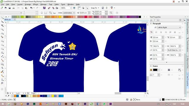 Contoh Desain Kaos KKN Universitas Syiah Kuala