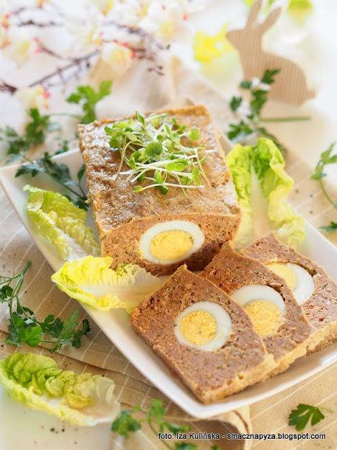 klops miesny, pieczen z miesa mielonego, jajka na twardo, pieczen wielkanocna, do chleba, na kanapki, najlepsze przepisy wielkanocne, przepis na wielkanoc