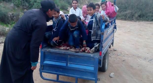 """بالصورة:""""التريبورتور"""" يتحول ل """"ترونسبور"""" مدرسي بأكادير"""