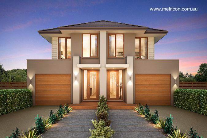 Casas dúplex contemporáneas en Australia imagen del renderizado