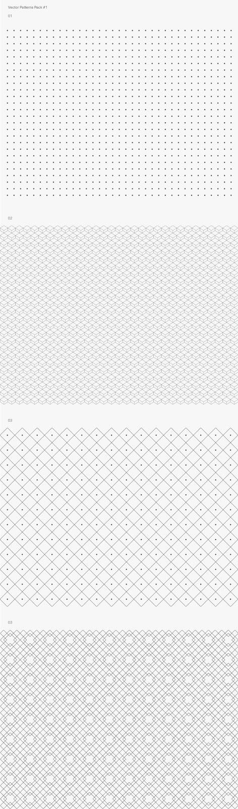 Seamles Pattern Vector Pack Sample - psdoc id