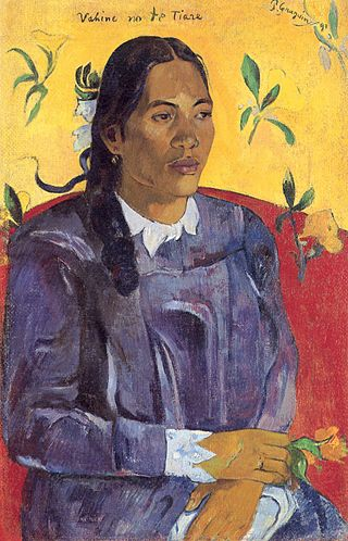 What are the Most Interesting Facts about Paul Gauguin?/ Woman with a Flower, (1891), Paul Gauguin