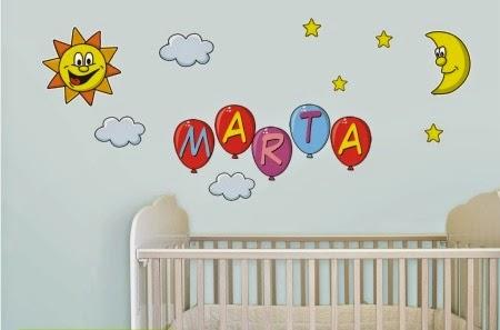 dormitorio bebé con pegatinas