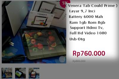Venera Tab Cloud Prime ~ Tablet 10 inch 700 ribuan Ram 1 GB Batere Besar