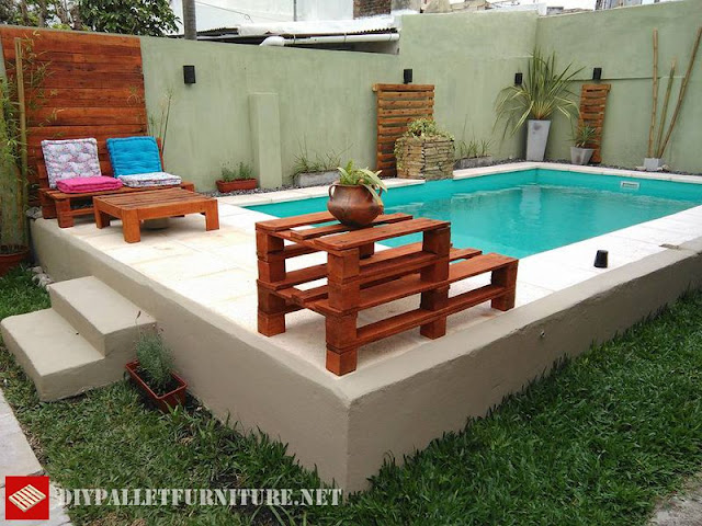Sofas for Piscina con palets