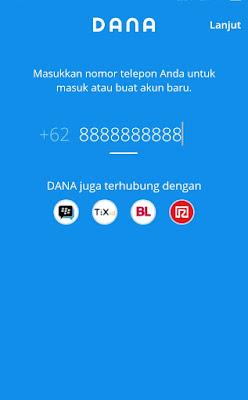 Input Nomor HP
