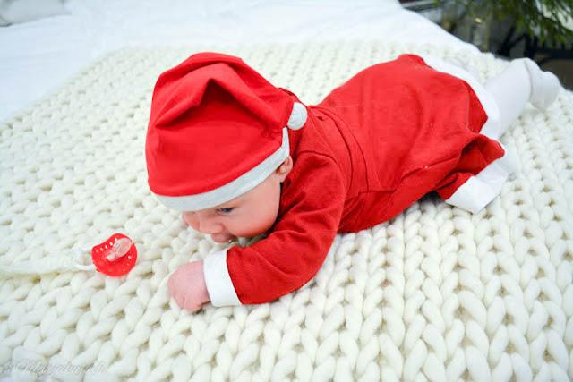 palmikoitu villamatto vauva