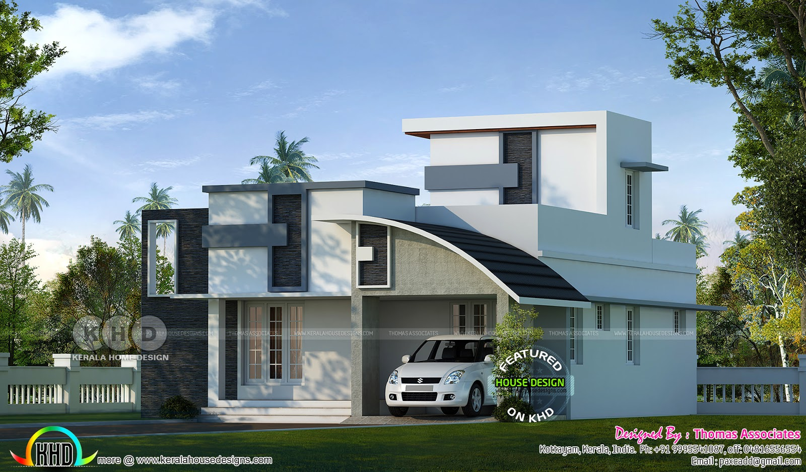 Grand One Floor Modern Home 1200 Square Feet Kerala Home