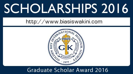 Graduate Scholar Award 2016