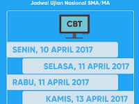 JADWAL UJIAN NASIONAL (UN) SMA/MA 2018