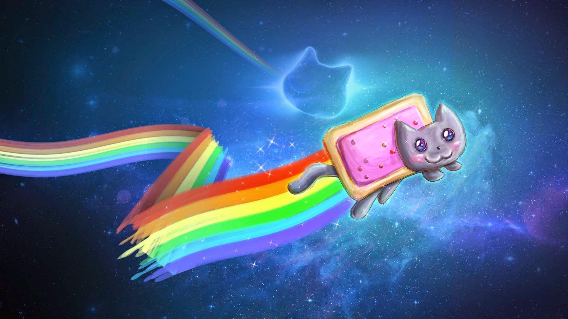 Papel De Parede Desenho Animado Nyan Cat