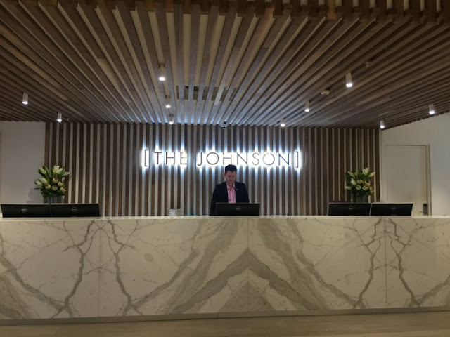 Reception desk at The Johnson, Spring Hill, Brisbane