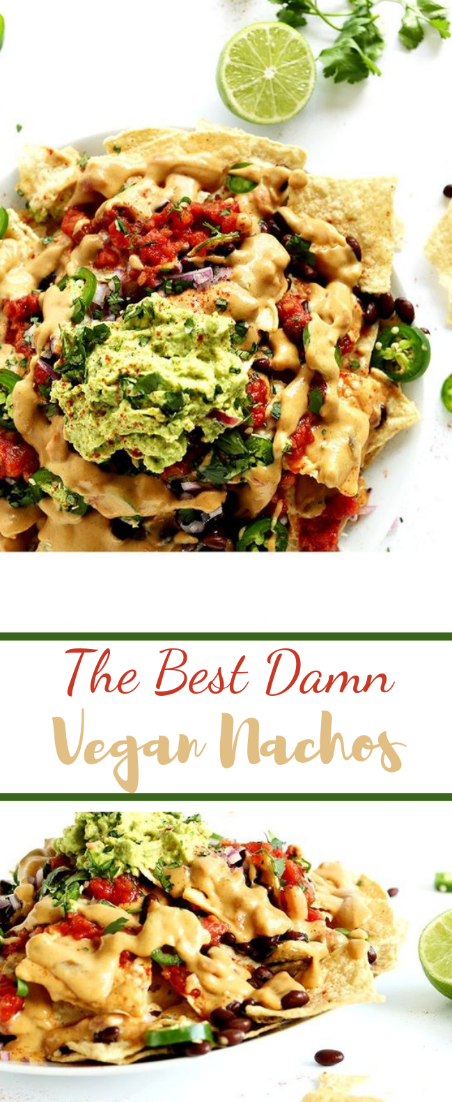 The Best Damn Vegan Nachos #mexicanfood #vegetarian