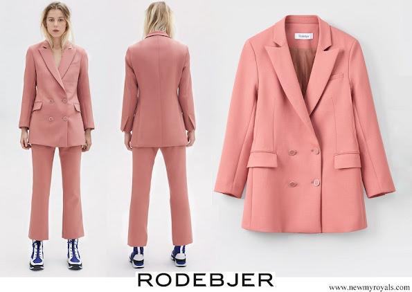 Crown Princess Victoria wore Rodebjer Nera Pink Blazer