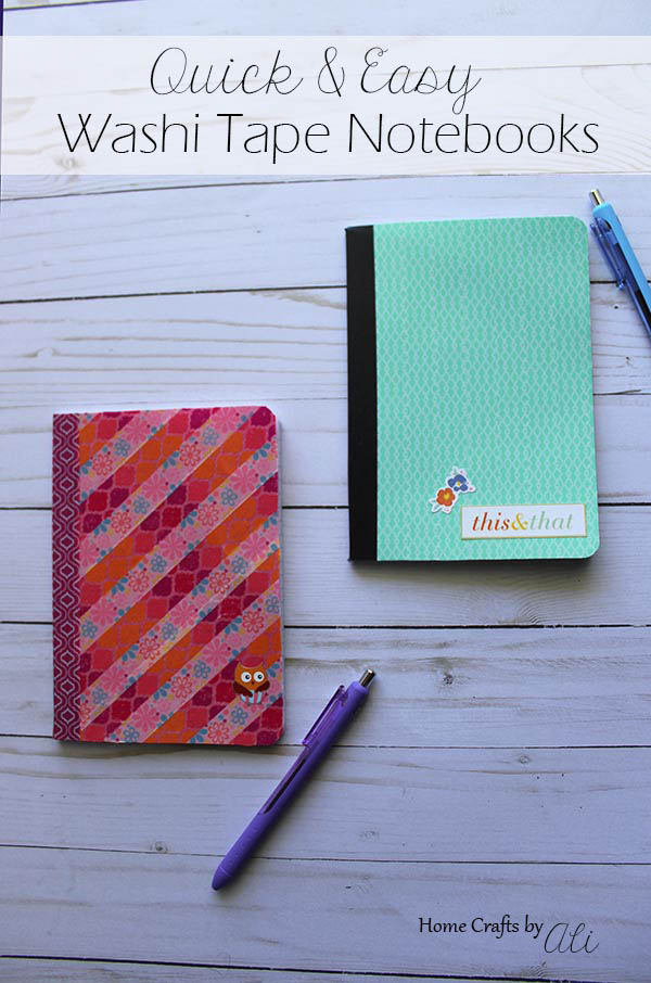 quick and easy washi tape notebook tutorial