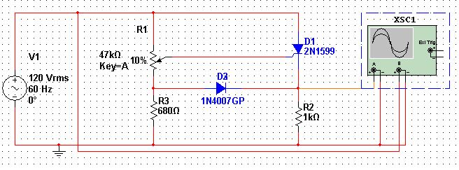 Single Phase half wave thyristor circuit simulation Speaking