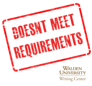 doesn't meet requirements