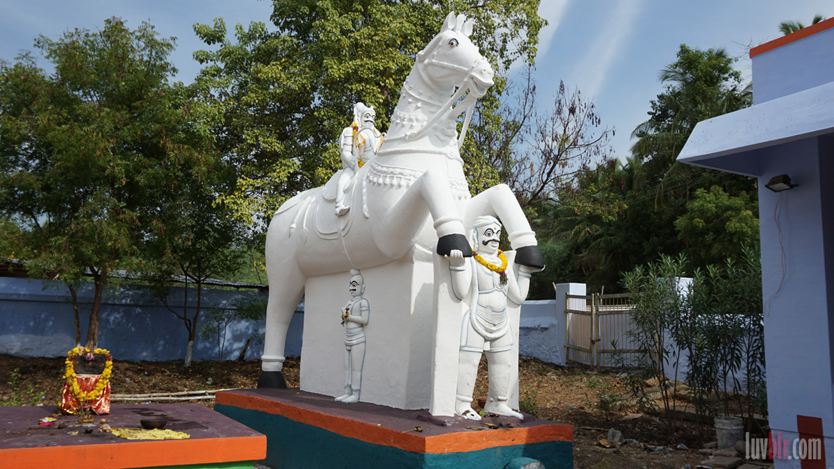 Ayyanar on white horse