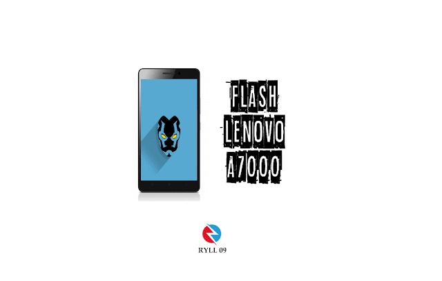 Cara Flash Hp Lenovo A7000 dengan Menggunakan Flashtool