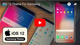 Tema IOS 12 Untuk Samsung - Thobby Blog