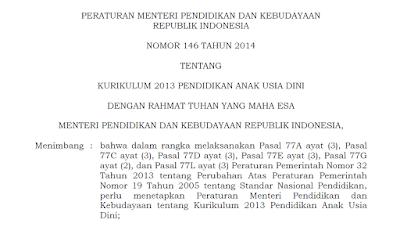 Permen 137 Tahun 2014 Standar Nasional PAUD + Lampiran Terbaru Lengkap