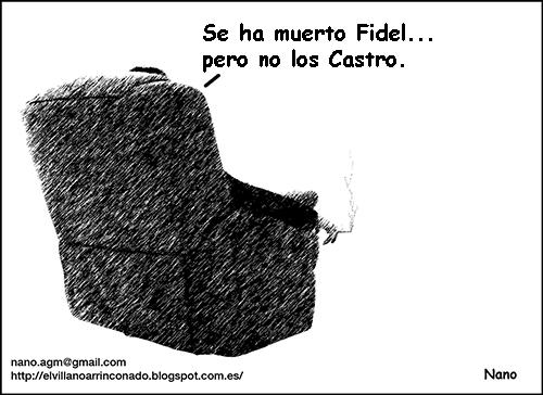 el villano arrinconado, humor, chistes, reir, satira, Fidel Castro, Cuba