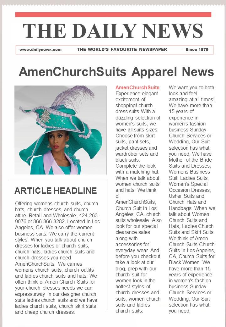 3ee9302d5c Black Women Church Suits at Amen Church Suits  March 2016