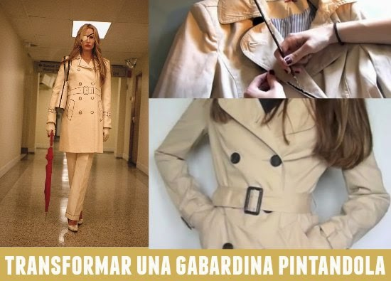 gabardina, bricomoda, pintar, refashion,Kill Bill, diys
