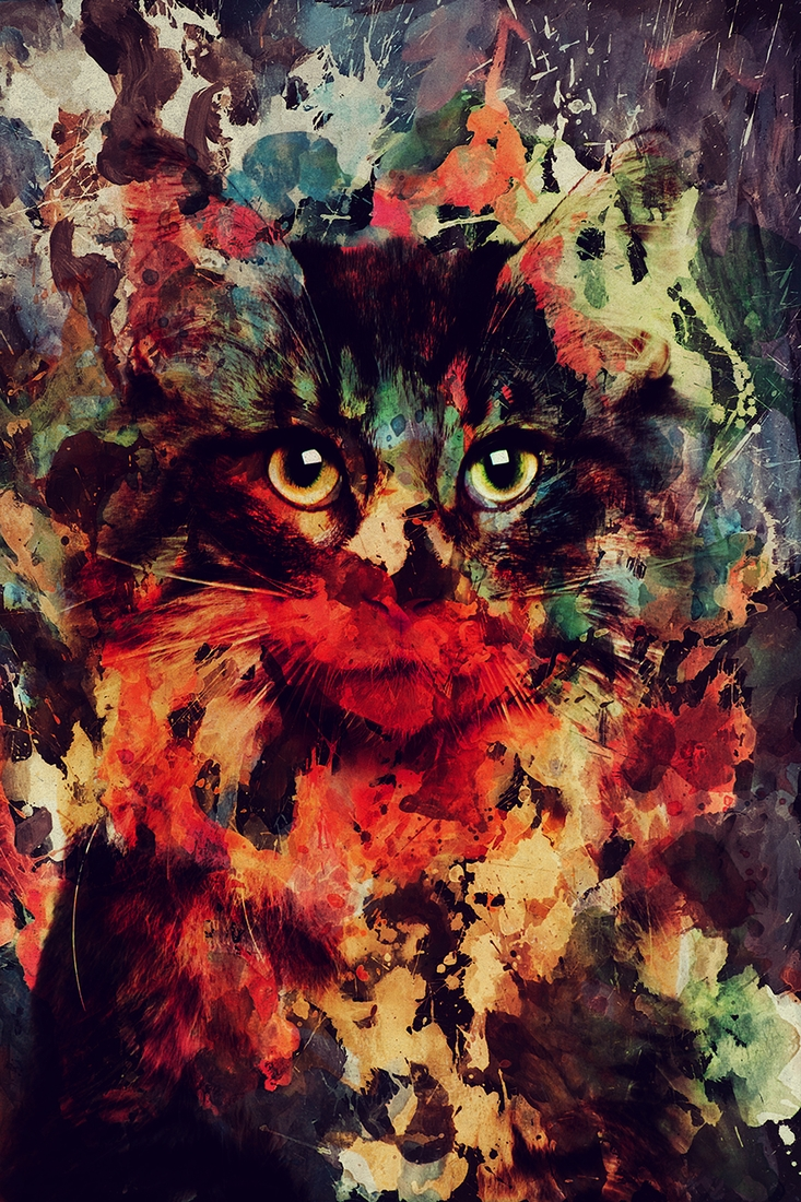 04-Cat-Andreas-Lie-Watercolor-Paintings-that-Blend-in-the-Background-www-designstack-co
