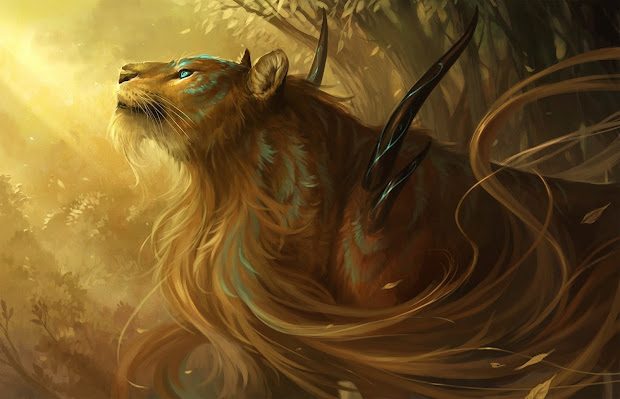 Fantasy Wildlife Abstract Animal Creative Design Art Hd