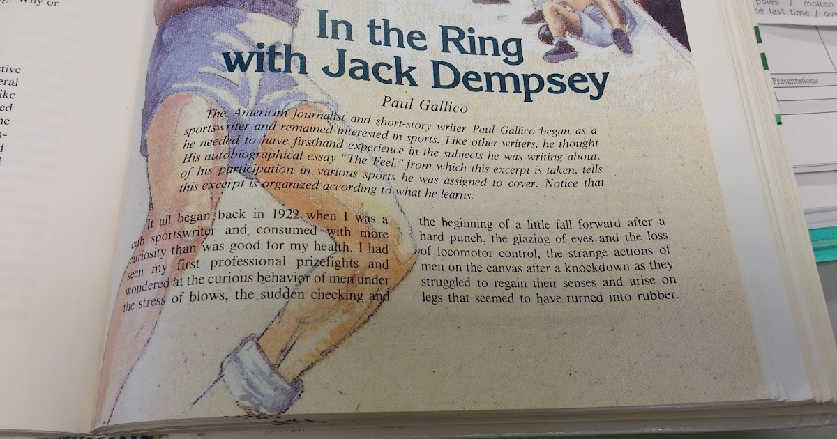 jack dempsey essay During 1923, jack dempsey, the famous heavyweight fighter, was training in coal city and as locals tried to get him to invest in the mining operations, the town was frequently referred to as coal city with a punch behind it, which soon grew into dempseyville or dempsey city.