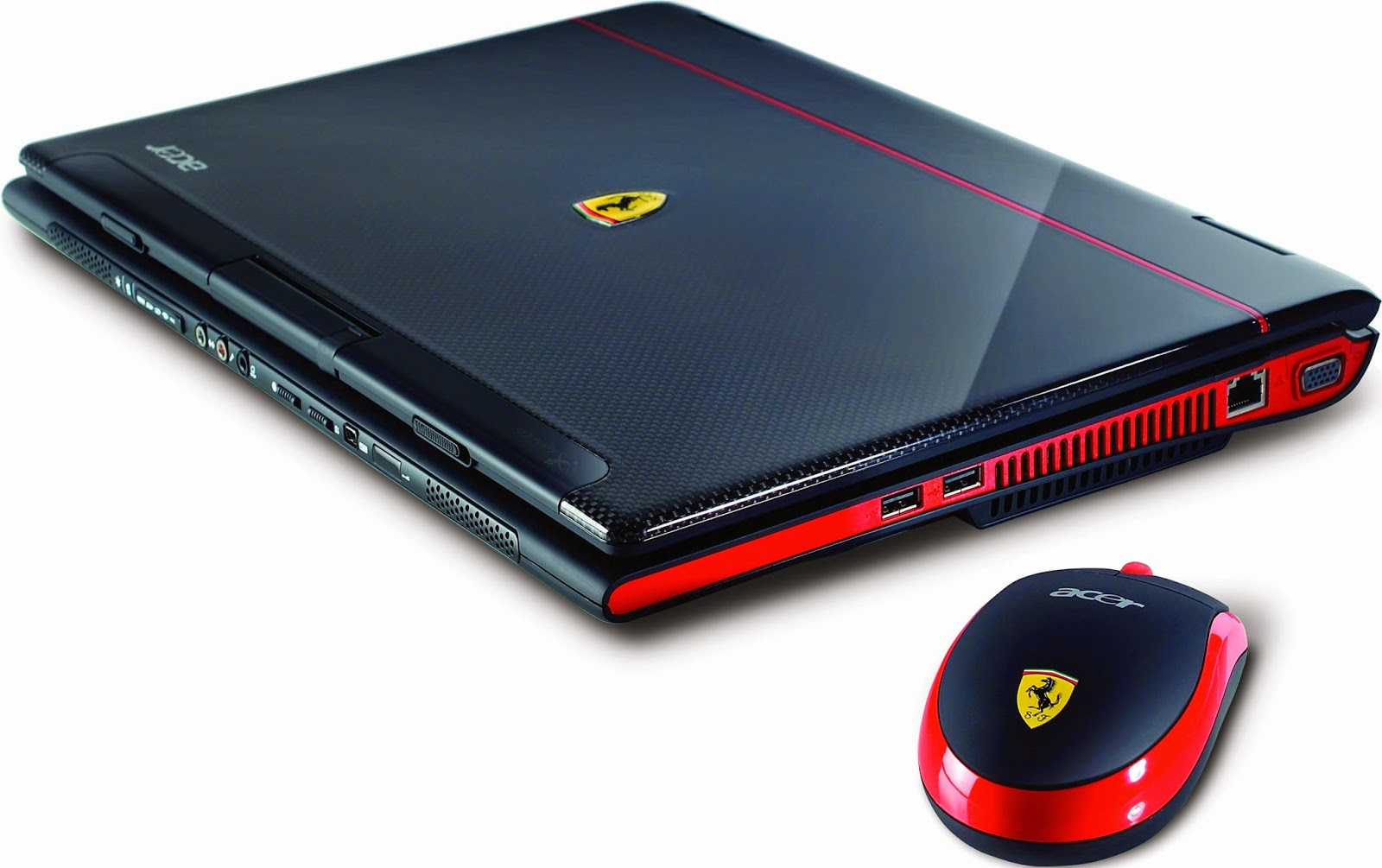 Acer Laptop Ferrari 1100 Laptop Specifications, review and driver download