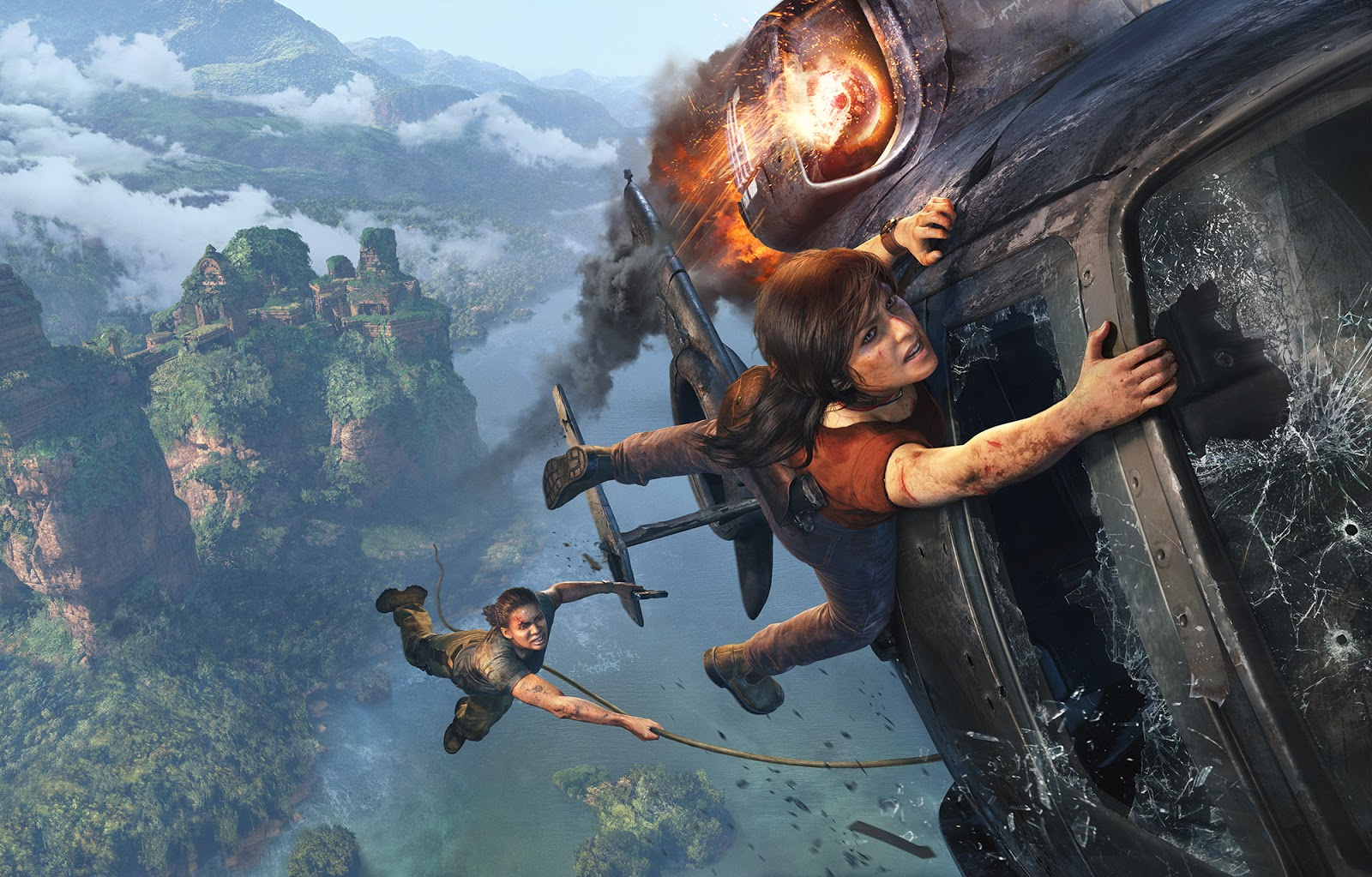 Comparten espectacular artwork de acción de Uncharted: El Legado Perdido