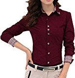 Women's Fashion Streetwear Style Rivets Studded Blouse Shirt Top