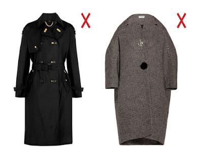 Черное пальто с поясом и серое объемное пальто-кокон