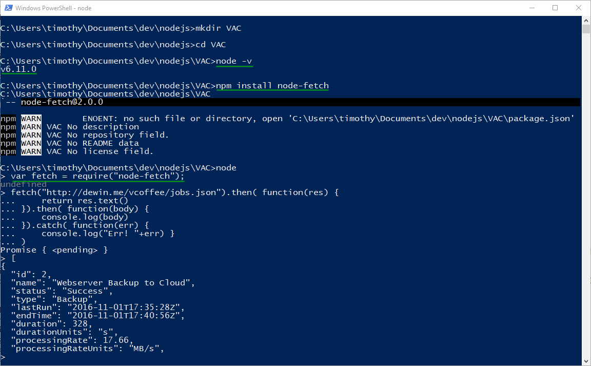 Timo's Techie Corner: vCoffee: Looking at the VAC REST API