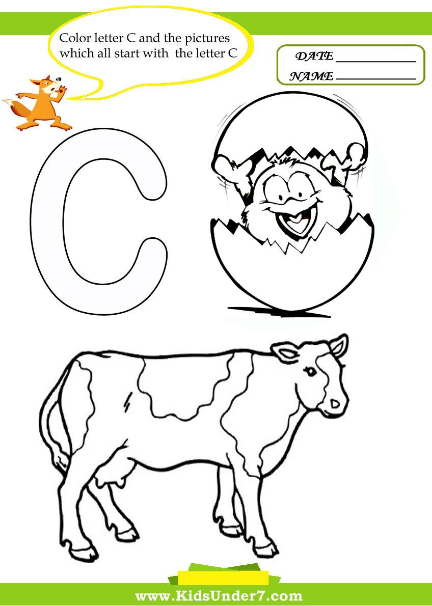 Workbooks letter b and d worksheets : Kids Under 7: Letter С Worksheets and Coloring Pages