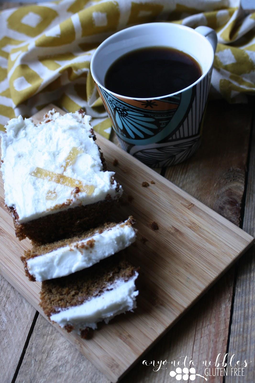 Ginger Loaf Cake With Lemon Icing