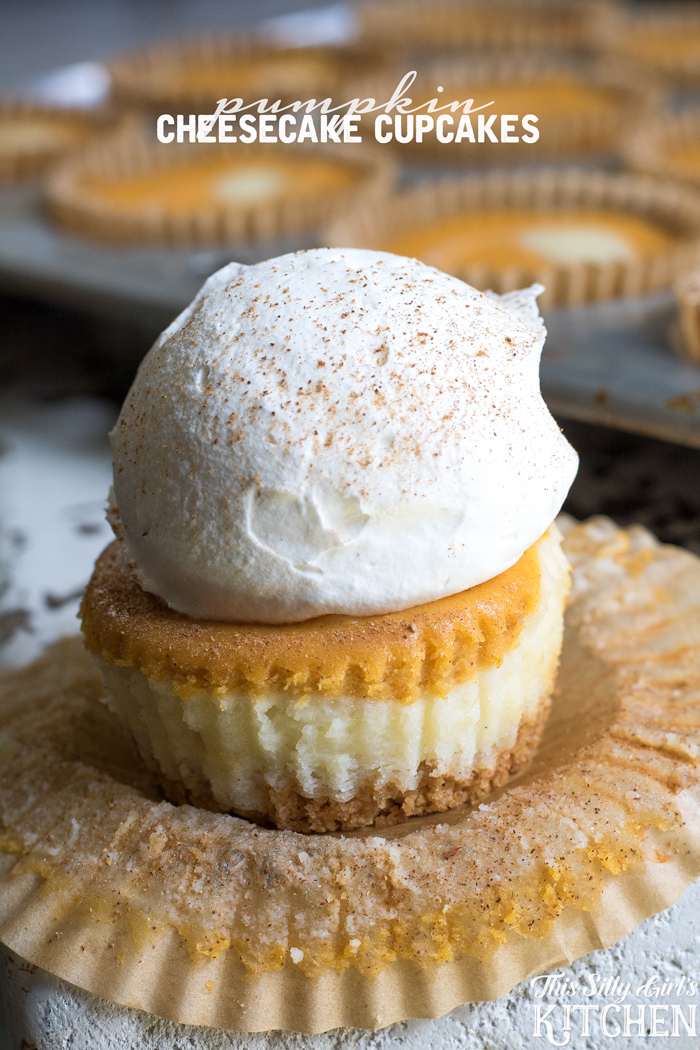 Pumpkin cheesecake cupcakes from This Silly Girls Life