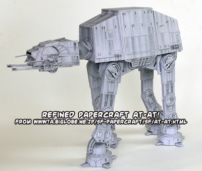refined papercraft Star Wars AT-AT