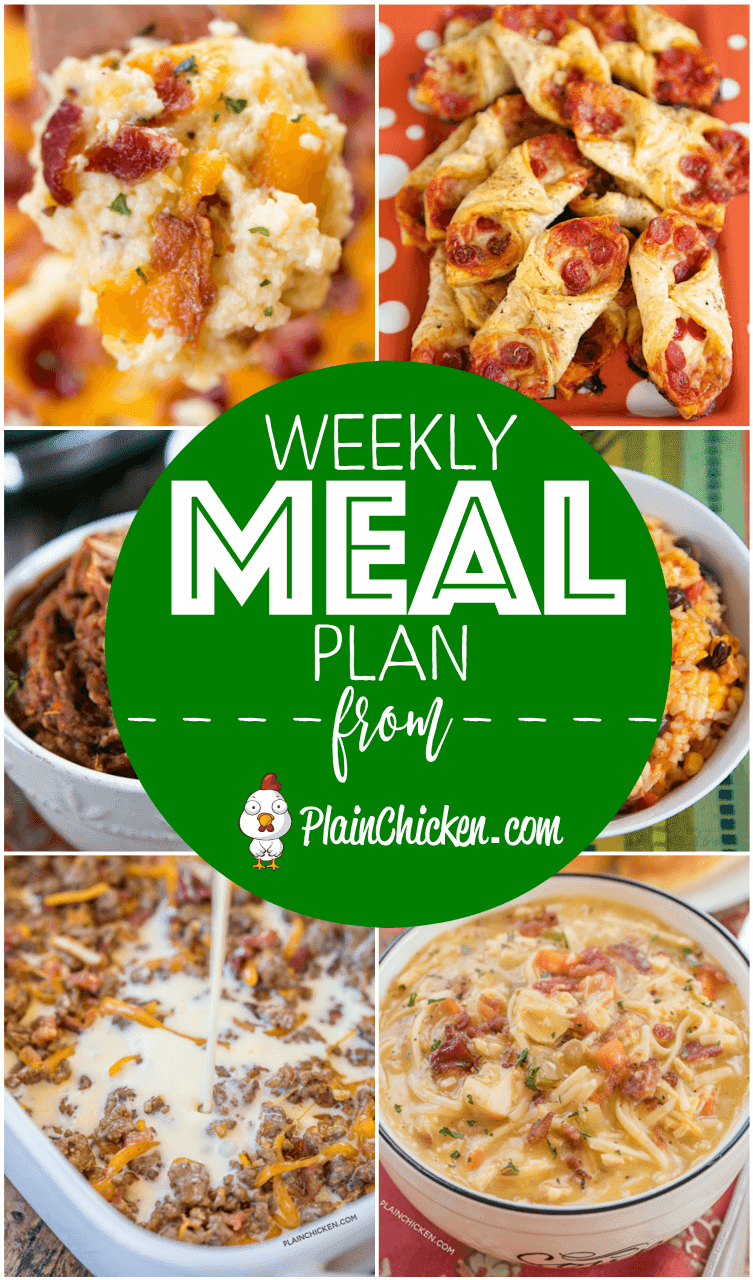 Whats for dinner weekly meal plan plain chicken whats for dinner a quick and easy recipe for everyday of the week main dishes side dishes and desserts something for everyone on this meal plan forumfinder Gallery