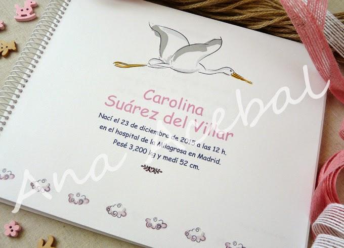 libro nacimiento personalizado niña
