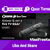 Fire TV Stick Quiz Time Answer Win Fire TV Stick