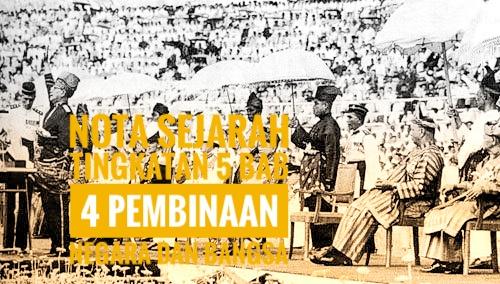 Nota Sejarah Tingkatan 5 Bab 4 Pembinaan Negara dan Bangsa