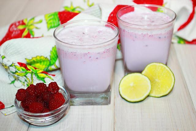 рецепт малинового молочного коктейля с пошаговыми фото