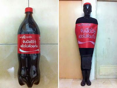 Disfraz de coca-cola cosplay