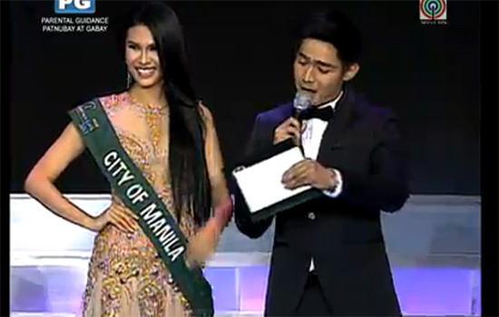 Miss Philippines Earth Question and Answer Portion
